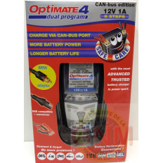 CHARGEUR BATTERIE OPTIMATE 4 DUAL CAN BUS EDITION : IDEAL DUCATI ET BMW