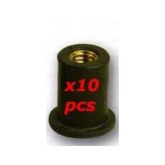 ECROUS CAOUTCHOUC M5 X10PC