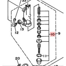 KIT REPARATION MAITRE CYLINDRE ARRIERE 850 TRX