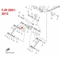 TUBE DE ROULEMENT BASCULEUR COTE CADRE 1300 FJR 2001-2011