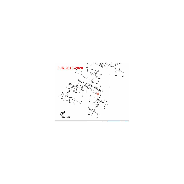 TUBE DE ROULEMENT BASCULEUR COTE AMORTISSEUR 1300 FJR 2013-2020