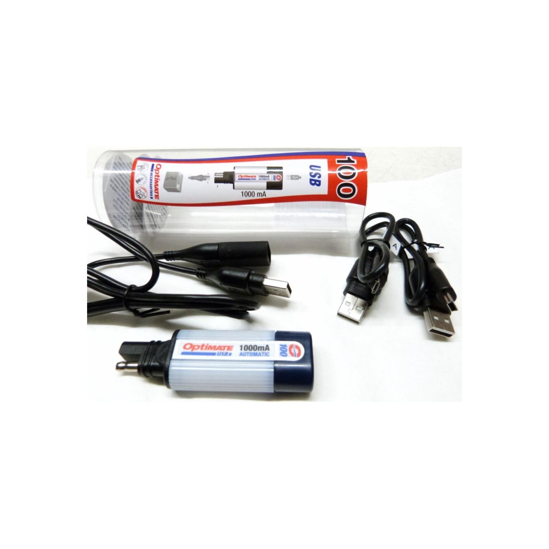 optimate chargeur usb sae100 nouvelle version pour recharger depuis votre batterie de moto. Black Bedroom Furniture Sets. Home Design Ideas