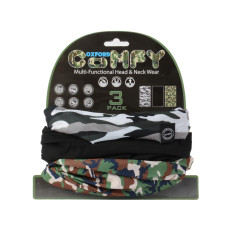 LOT DE 3 TOURS DE COU Comfy Oxford camo